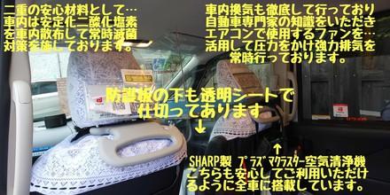 弊社タクシー感染症対策の取り組み